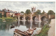 Boats, Wye Bridge & Cathedral, HEREFORD, Herefordshire