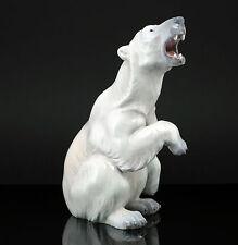 Großer Porzellan Eisbär Dahl Jensen Dänemark 37 cm Polar Bear 1930 copenhagen