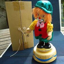 Clown Musical Vintage Tourne Socle Bois 25 x11 Cm - 475 Grs - Boîte d' Origine