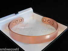 MENS L/XL SOLID COPPER MAGNETIC TORQUE BANGLE/BRACELET FOR ARTHRITIS/PAIN RELIEF