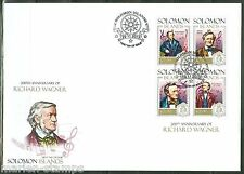 SOLOMON ISLANDS  2013 200th BIRTH ANNIVERSARY RICHARD WAGNER SHT FIRST DAY COVER