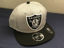 OAKLAND RAIDERS NEW ERA SNAP BACK HAT 2 TONE BLACK GREY NFL