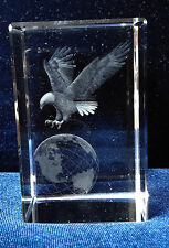 Cristal con imagen 3D de Eagle & Earth-Regalo Ideal