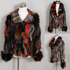 Gorgeous Sheri Bodell Multi Colored Reversible Patchwork Fox Fur Jacket S M