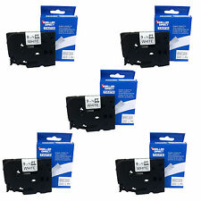 5 PK BROTHER Compatible TZ-221 9mm Black On White Tape For P-Touch 1000 1005 PT