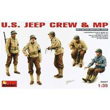 NEW MiniArt 1/35 US Jeep Crew/MP (5) 35047