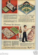 1961 PAPER AD Game Baseball Hockey Electric Mr Brain Electronic Answer Puncho