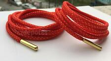 Red Strong Shoelaces w Gold Metal Tip Hiking Walking Skate Boots Shoe Lace