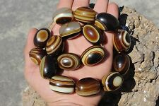 Old Tibetan beads Eye agate antique unique sulemani dzi ancient Lot of 16 Beads