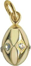 Faberge Egg Pendant / Charm with crystals 1.6 cm #0845-5(02)