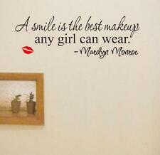 New Marilyn Monroe Red Lips Letters Art Mural Vinyl Home Decor Wall Stickers