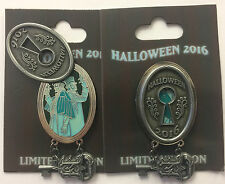 Disney Parks 2016 Halloween Haunted Mansion Lock & Key Ghost Duelers Glow LE Pin