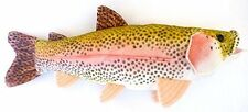 RAINBOW TROUT Plush WALL MOUNT for Nursery Guest Room Cottage Stuffed Fish Baby