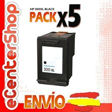 5 Cartuchos Tinta Negra / Negro HP 300XL Reman HP Envy 120 e-All-in-One