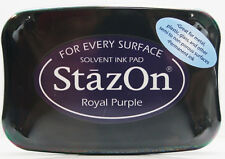 STAZON Solvent Ink Pad  ROYAL PURPLE Tsukineko Archival