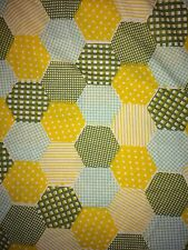Patchwork Print Vintage Yellow Green Double Duvet Cover