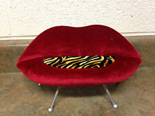 Barbie Doll Red Lips Zebra Animal Print Sofa Couch Living Room Furniture Rare
