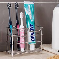 US Stainless Steel Toothbrush Toothpaste Stand Bathroom Holder Kitchen Rack