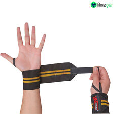 Pro Neoprene Silicon Wrist Thumb Brace Support Gym Weight Lifting Strap Wrap Y/B