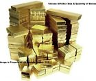 Lot of 5 20 50 100 Gold Cotton Filled Jewelry Packaging Gift Boxes Choose Size