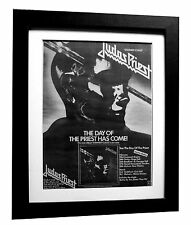 JUDAS PRIEST+Stained Glass+POSTER+AD+RARE+ORIG 1978+FRAMED+EXPRESS GLOBAL SHIP