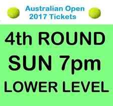AUSTRALIAN OPEN TENNIS TICKETS 2017 SUNDAY NIGHT 22/1 4TH ROUND SUN 22 JAN