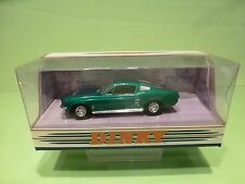 DINKY TOYS MATCHBOX  DY-16 FORD MUSTANG FASTBACK 1967 - GREEN 1:43 - NMIB