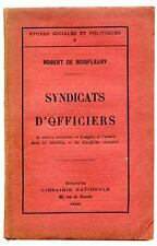 Syndicats d'officiers par Robert de Boisfleury 1911