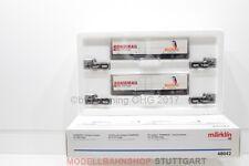 H0 MÄRKLIN Set 48042 Kombirail Migros SBB Cargo Güterwagen OVP/F37