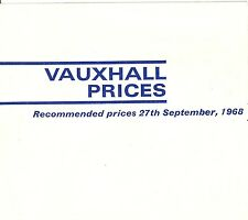 VAUXHALL PRICE LIST 1969MY V1900 09/68 (UK)
