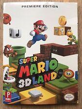 SUPER Mario 3d LAND-NUOVO di zecca e sigillato prima 3ds EDIZIONE PER COLLEZIONISTI guida