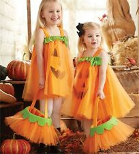 Mud Pie Halloween Tulle Pumpkin Dress One Size Fits Most