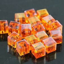 24 Pieces 4mm Swarovski cube crystal bead A Orange AB