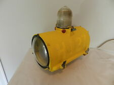 VINTAGE AIRPORT RUNWAY LIGHT-1951 CROUSE-HINDS CO. RUNWAY LIGHT-VINTAGE AIRPLANE