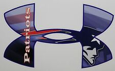 "Under Armour New England Patriots Truck/Window Decals Sticker - 11.5"" x 7.5"""