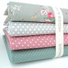 Fq bundle-chloe-gris & dusty green x 4-fat quarter-tissu de coton patchwo