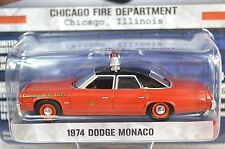 DODGE MONACO 1974 CHICAGO FIRE DEPT FD HOT PURSUIT 13 GREENLIGHT 42700 1:64