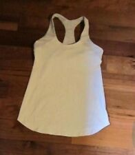 LULULEMON INNER STRENGTH TANK IN white and gray STATIC stripe SIZE 6