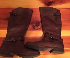Frye Dark Brown Leather Knee High Riding Boots Women's Size 6 B