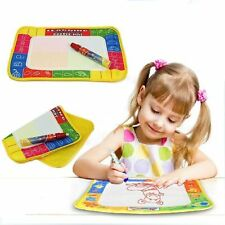 Baby Kid Boys Girl Novel Doodle Water Drawing Toys Mat Magic Pen Education Toy