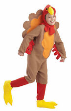 CHILDREN'S FLEECE TURKEY HALLOWEEN/THANKSGIVING COSTUME SMALL 4-6