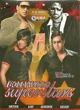 BOLLYWOOD SUPER STARS - BOLLYWOOD TOP SELECTION OF 100 SONGS DVD - FREE UK POST