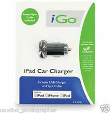 iGo Car Charger PS00286-0001 For Most USB Devices iPad Tables iPhone iPod nice