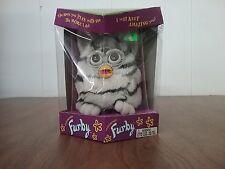 Furby Tiger Electronic 1998 Talking Model 70-800 Grey w/Black Stripes Brown Eyes