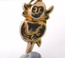 A RARE Vintage   LINCOLN IMP   9ct yellow gold hollow  small  charm  1.1g