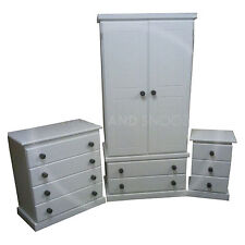 HAND MADE FURNITURE CAMBRIDGE 3 PIECE BEDROOM SET WHITE/BLACK(ASSEMBLED)