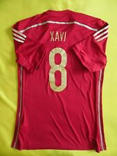 5+/5 SPAIN #8 XAVI 2014/2015 HOME CAMISETA SHIRT JERSEY ORIGINAL FOOTBALL ADIDAS