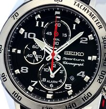 NEW MEN'S SEIKO SPORTURA ALARM CHRONOGRAPH SPORTS WATCH SNAE65P1 / SNAE65