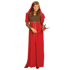 JULIET RED MEDIEVAL GOWN ADULT FANCY DRESS