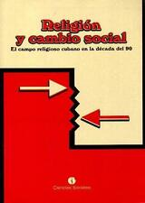 RELIGION Y CAMBIO SOCIAL Santeria Cuba Cuban Book